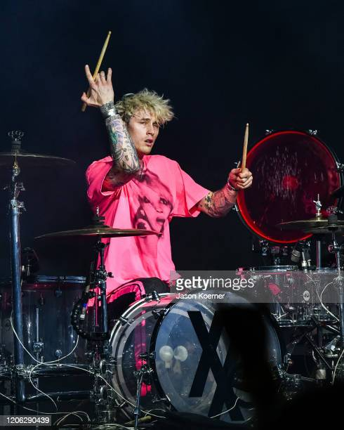 Colson Baker known professionally as Machine Gun Kelly performs onstage during day four at Okeechobee Music Arts Festival at Sunshine Grove on March...