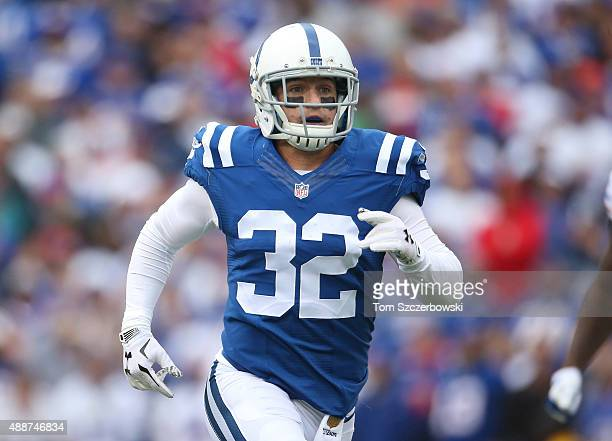 Colt Anderson of the Indianapolis Colts in action during NFL game action against the Buffalo Bills at Ralph Wilson Stadium on September 13 2015 in...