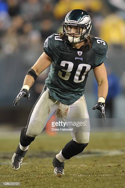 Colt Anderson of the Philadelphia Eagles in action during the game against the Dallas Cowboys at Lincoln Financial Field on January 2 2011 in...