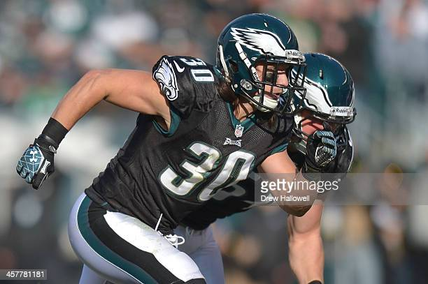 Colt Anderson of the Philadelphia Eagles runs against the Arizona Cardinals at Lincoln Financial Field on December 1 2013 in Philadelphia...