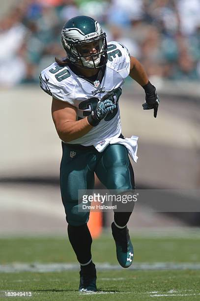 Colt Anderson of the Philadelphia Eagles runs against the San Diego Chargers at Lincoln Financial Field on September 15 2013 in Philadelphia...