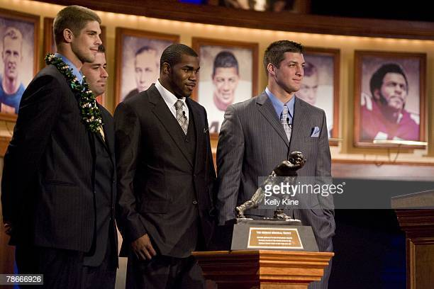 Colt Brennan of the University of Hawaii, Chase Daniels of the University of Missouri, Darren McFadden of the University of Arkansas and Tim Tebow of...