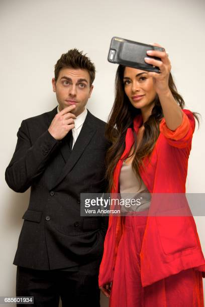 Colt Prattes and Nicole Scherzinger at the 'Dirty Dancing' Press Conference at the Four Seasons Hotel on May 18 2017 in Beverly Hills California