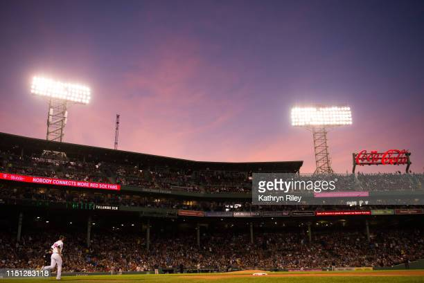 Colten Brewer of the Boston Red Sox enters the game in the second inning against the Houston Astros at Fenway Park on May 18 2019 in Boston...