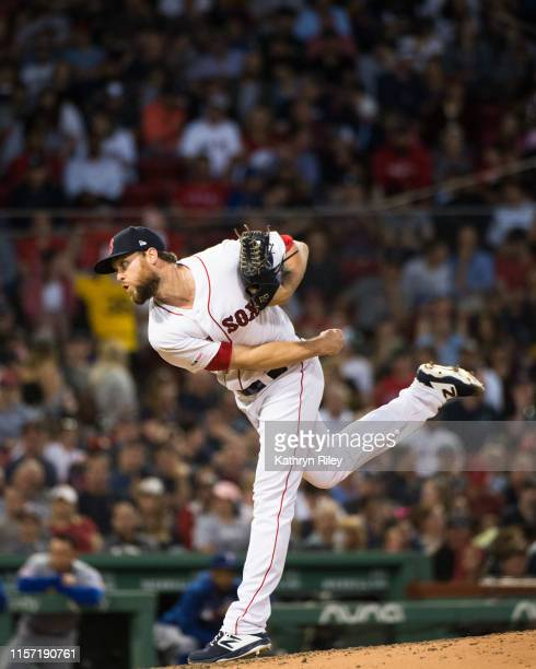Colten Brewer of the Boston Red Sox pitches in the fourth inning against the Texas Rangers at Fenway Park on June 11 2019 in Boston Massachusetts