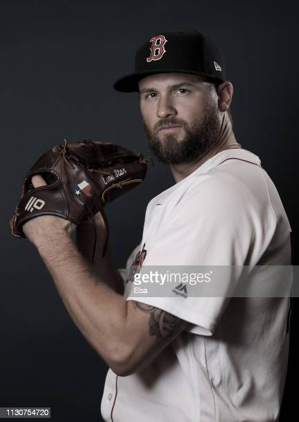 Colten Brewer of the Boston Red Sox poses for a portrait during Boston Red Sox Photo Day at JetBlue Park at Fenway South on February 19 2019 in Fort...