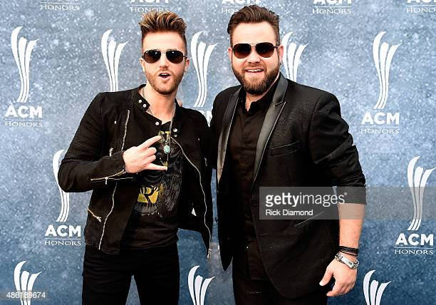 Colton and Zach Swon of the Swon Brothers attend the 9th Annual ACM Honors at the Ryman Auditorium on September 1 2015 in Nashville Tennessee