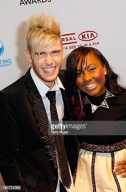 Colton Dixon and Jamie Grace attend the 44th Annual GMA Dove Awards on October 15 2013 in Nashville Tennessee