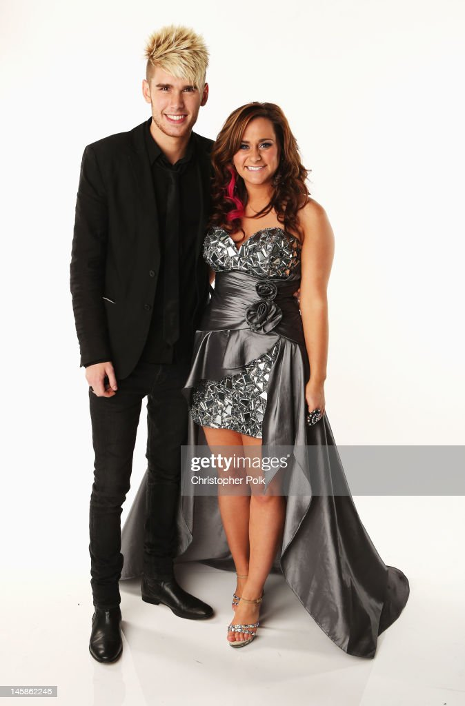 Colton Dixon and Skylar Lane pose in the Wonderwall.com Portrait Studio during 2012 CMT Music awards at the Bridgestone Arena on June 6, 2012 in Nashville, Tennessee.