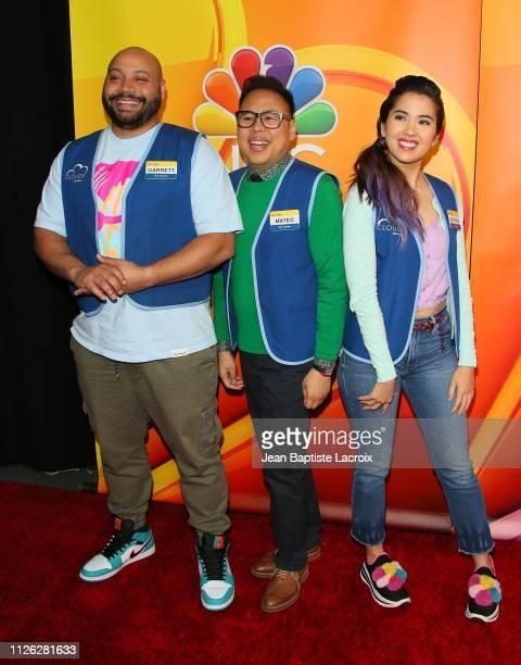 Colton Dunn Nico Santos and Nichole Bloom attend NBC's Los Angeles MidSeason Press Junket on February 20 2019 in Los Angeles California