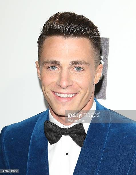 Colton Haynes arrives at the 22nd Annual Elton John AIDS Foundation's Oscar viewing party held on March 2 2014 in West Hollywood California