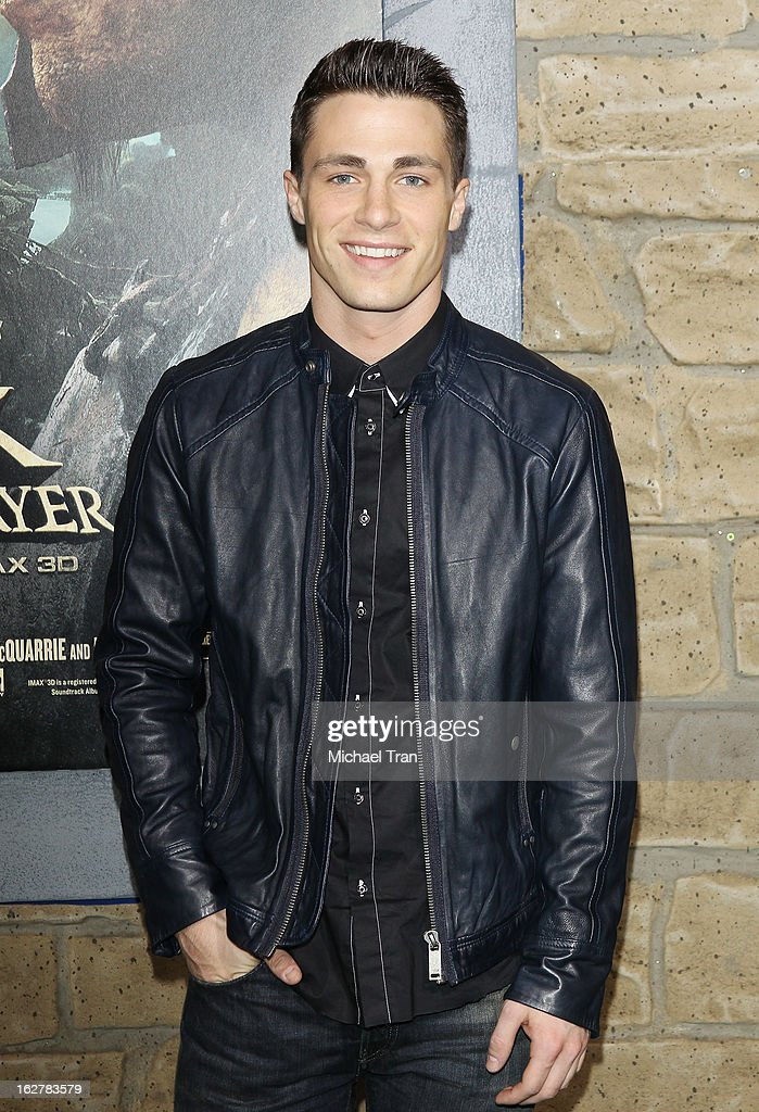 Colton Haynes arrives at the Los Angeles premiere of 'Jack The Giant Slayer' held at TCL Chinese Theatre on February 26, 2013 in Hollywood, California.
