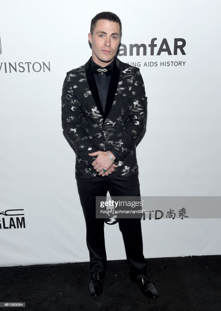 Colton Haynes at amfAR Los Angeles 2017 at Ron Burkle's Green Acres Estate on October 13, 2017 in Beverly Hills, Californi