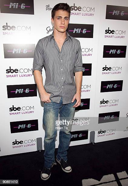 Colton Haynes attends Mi6 Nightclub Grand Opening Party on September 15 2009 in West Hollywood California