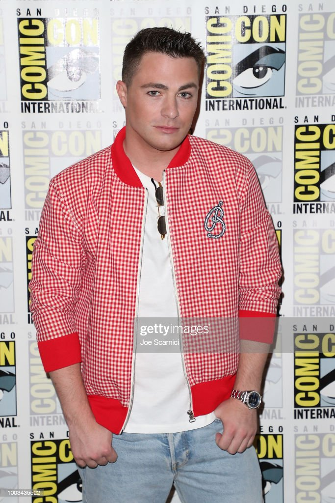 Colton Haynes attends the 'Arrow' press line at Comic-Con International 2018 on July 21, 2018 in San Diego, California.