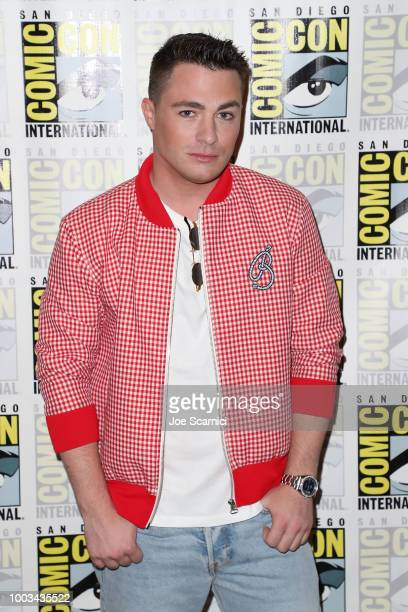 Colton Haynes attends the 'Arrow' press line at ComicCon International 2018 on July 21 2018 in San Diego California
