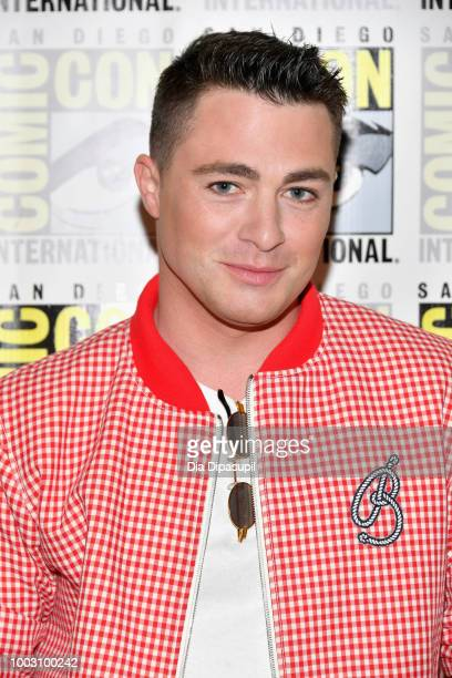 Colton Haynes attends the 'Arrow' Press Line during ComicCon International 2018 at Hilton Bayfront on July 21 2018 in San Diego California