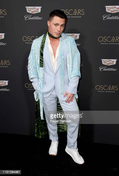 Colton Haynes attends the Cadillac celebrates The 91st Annual Academy Awards at Chateau Marmont on February 21 2019 in Los Angeles California