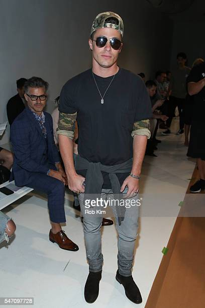 Colton Haynes attends the John Elliott fashion runway presentation during New York Fashion Week Men's S/S 2017 at Skylight Clarkson Sq on July 13...