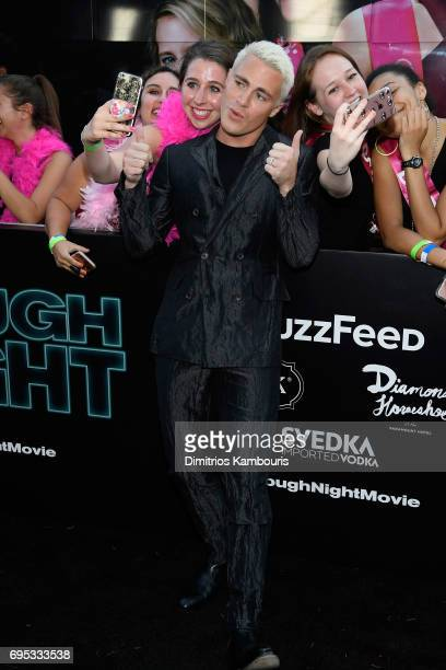Colton Haynes attends the 'Rough Night' premeire at AMC Loews Lincoln Square on June 12 2017 in New York City
