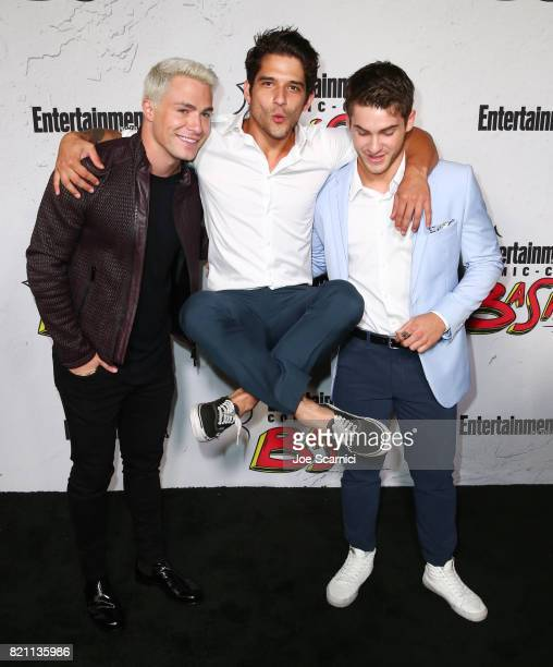 Colton Haynes Cody Christian and Tyler Posey at Entertainment Weekly's annual ComicCon party in celebration of ComicCon 2017 at Float at Hard Rock...