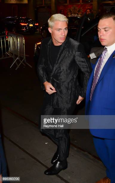 Colton Haynes is seen arriving at the 'Rough Night Aftreparty on June 12 2017 in New York City