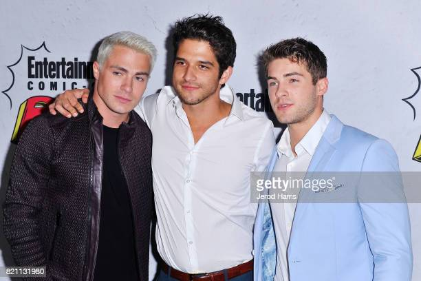 Colton Haynes Tyler Posey and Cody Christian arrive at Entertainment Weekly's Annual ComicCon Party at Float at Hard Rock Hotel San Diego on July 22...