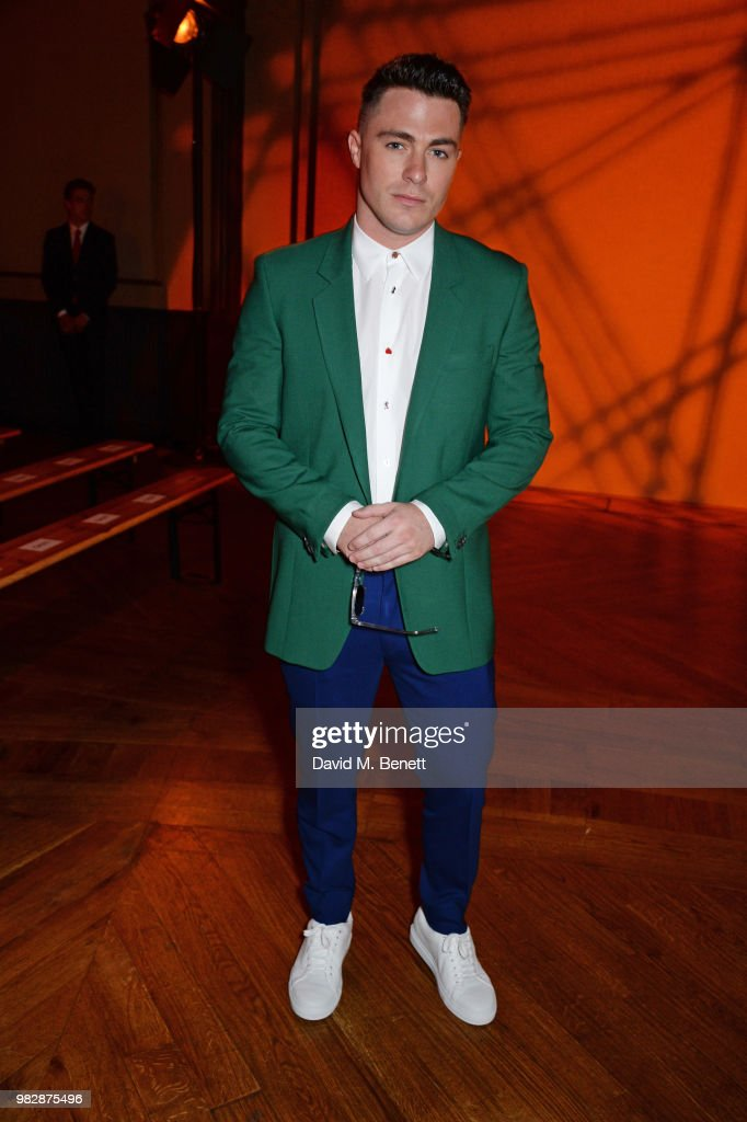 Colton Haynes, wearing Paul Smith, attends the Paul Smith SS19 Menswear Show during Paris Fashion Week at Elysee Montmartre on June 24, 2018 in Paris, France.