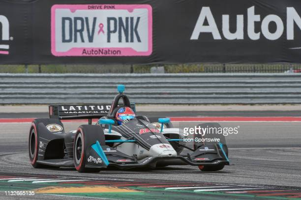 Colton Herta of Harding Steinbrenner Racing driving a Honda accelerates out of turn 19 during the IndyCar Classic at Circuit of the Americas on March...
