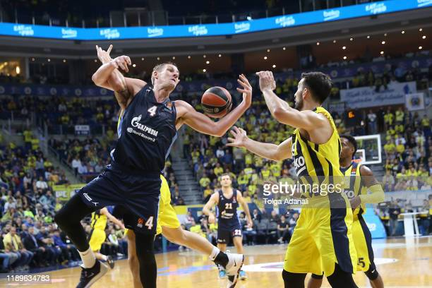 Colton Iverson #4 of Zenit St Petersburg in action during the 2019/2020 Turkish Airlines EuroLeague Regular Season Round 15 match between Fenerbahce...