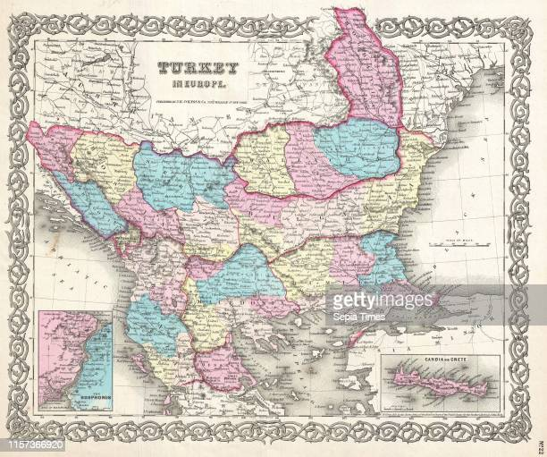 Colton Map of Turkey in Europe, Macedonia, and the Balkans