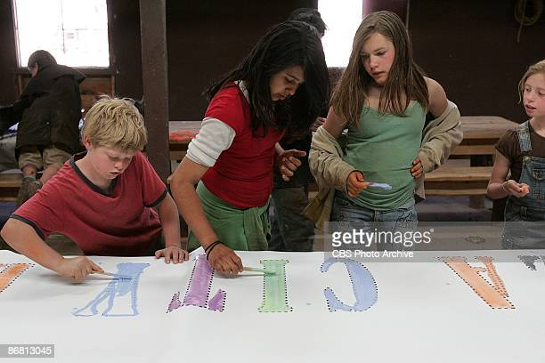 Colton Natasha Migle and Sophie do some decorating during one of their final three challenges on the season finale of KID NATION Wednesday Dec 12 on...