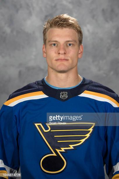 Colton Parayko of the St Louis Blues poses for his official headshot for the 20182019 season on September 13 2018 in St Louis Missouri