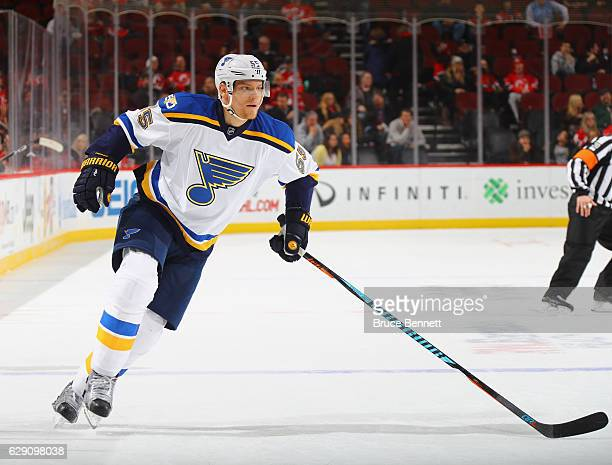 Colton Parayko of the St Louis Blues skates against the New Jersey Devils at the Prudential Center on December 9 2016 in Newark New Jersey