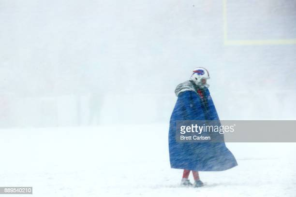 Colton Schmidt of the Buffalo Bills walks the field before a game against the Indianapolis Colts on December 10 2017 at New Era Field in Orchard Park...