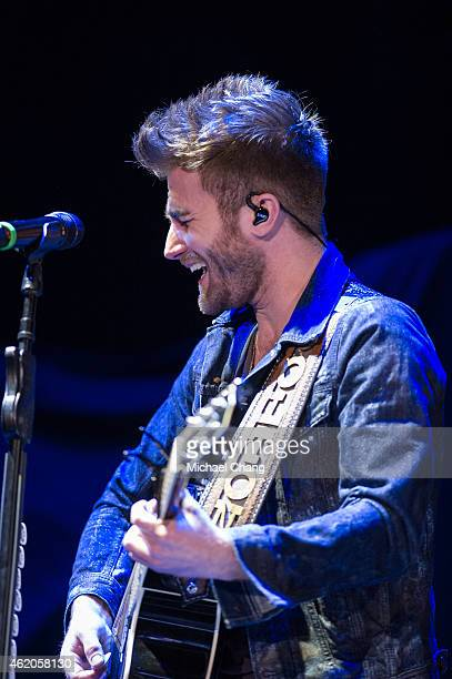 Colton Swon with The Swon Brothers perform at Pensacola Bay Center on January 23 2015 in Pensacola Florida