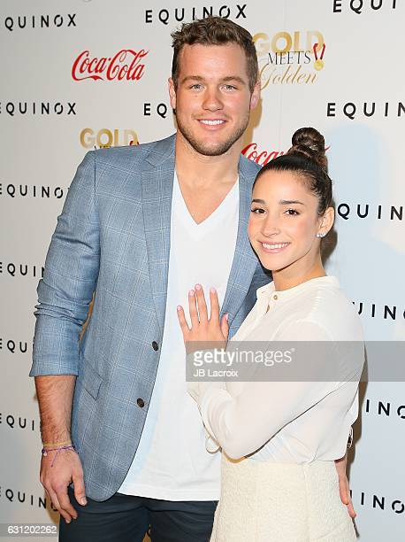 Colton Underwood and Aly Raisman attend the Gold Meets Golden event on January 7 2017 in Los Angeles California