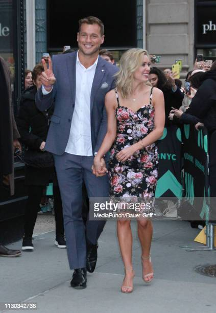 Colton Underwood and Cassie Randolph are seen on March 13 2019 in New York City