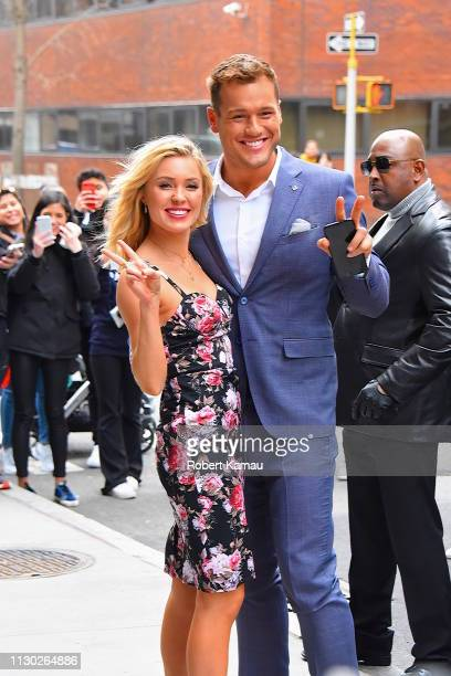 Colton Underwood and Cassie Randolph from 'The Bachelor' are seen out and about in Manhattan on March 13 2019 in New York City