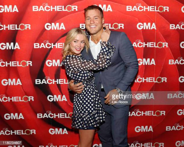 Colton Underwood and Cassie Randolph of Walt Disney Television via Getty Images's The Bachelor are guests on Good Morning America Monday March 13...