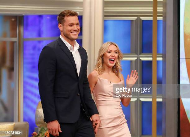 Colton Underwood and Cassie Randolph of Walt Disney Television via Getty Images's The Bachelor are guests on Walt Disney Television via Getty...