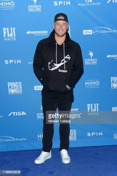 Colton Underwood attends the 7th annual Ping Pong 4 Purpose celebrity tournament fundraiser at Dodger Stadium on August 08 2019 in Los Angeles...
