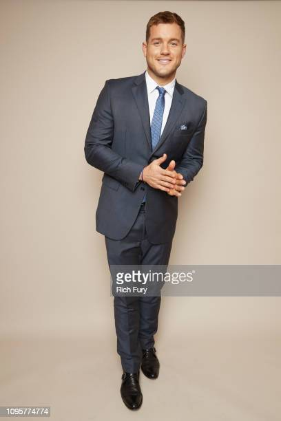 Colton Underwood of ABC's 'The Bachelor' poses for a portrait during the 2019 Winter TCA Portrait Studio at The Langham Huntington Pasadena on...