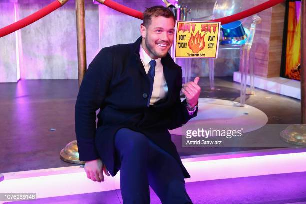 Colton Underwood poses on stage during Dick Clark's New Year's Rockin' Eve With Ryan Seacrest 2019 on December 31 2018 in New York City