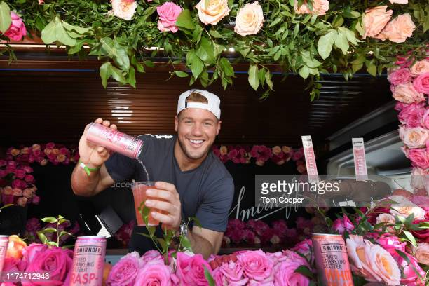 Colton Underwood pours out Smirnoff Seltzer Raspberry Rosè samples to guests at Fizz Fight Festival at EXDO Event Center on September 14 2019 in...