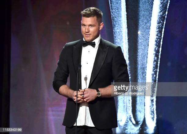 Colton Underwood speaks onstage during the Critics' Choice Real TV Awards at The Beverly Hilton Hotel on June 02 2019 in Beverly Hills California