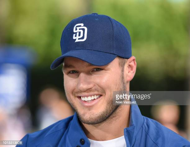 Colton Underwood visit Extra at Universal Studios Hollywood on August 8 2018 in Universal City California