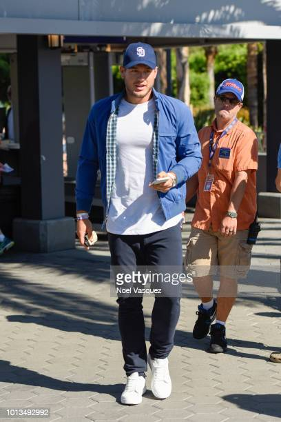 Colton Underwood visits Extra at Universal Studios Hollywood on August 8 2018 in Universal City California