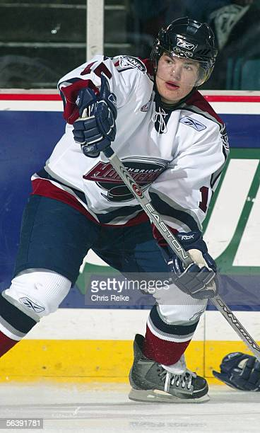 Colton Yellow Horn of the Lethbridge Hurricanes skates against the Vancouver Giants during their WHL game on October 15, 2005 at the Pacific Coliseum...