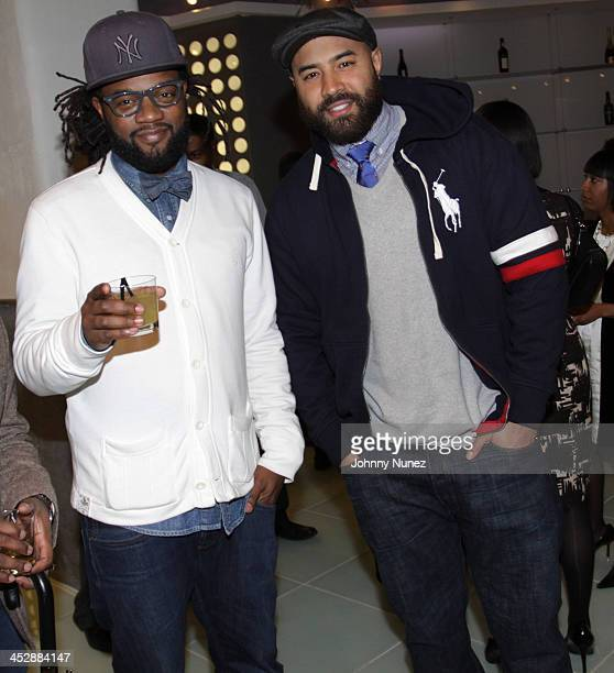 Coltrane and Ebro attend the Black Enterprise Be Next kickoff reception at the Moet Hennessy Office on February 23 2010 in New York City